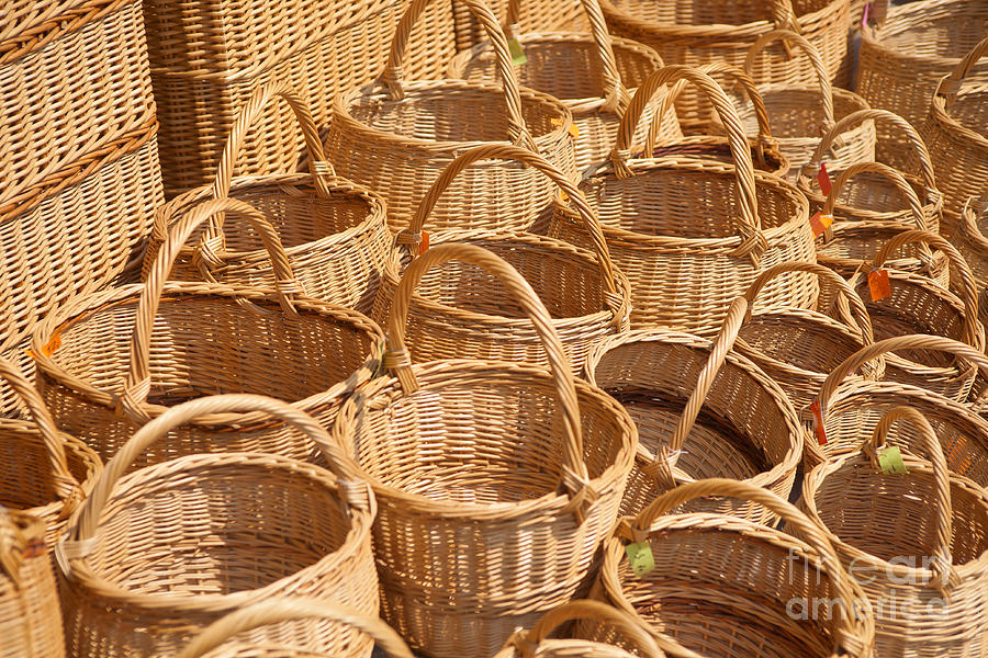 Next Woven Basket : Wicker baskets photograph by boris suntsov