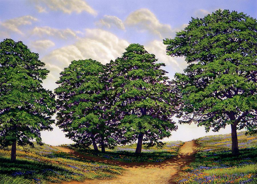 Frank Wilson Painting - Wild Flower Path by Frank Wilson