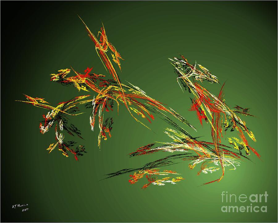 Fractal Flowers Photograph - Wild Flowers by Arne Hansen