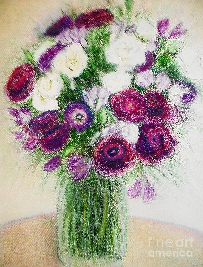 Wild Flowers Painting - Wild Flowers  by Ziba Bastani