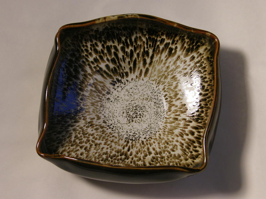 Porcelain Ceramic Art - Wild Glaze Square Dish by Shayna Holden