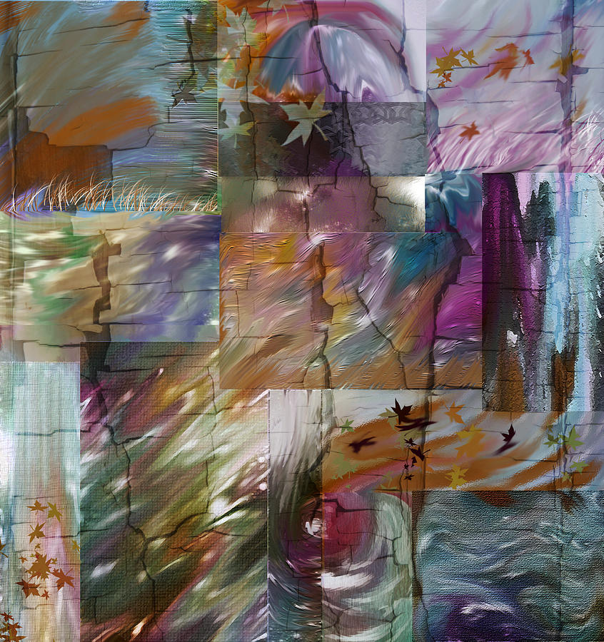 Abstract Digital Art - Wild Wind by Tanya Jacobson-Smith