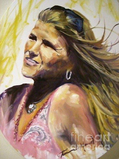 Portrait Painting - Wildfire by Tamera Menard Ovall