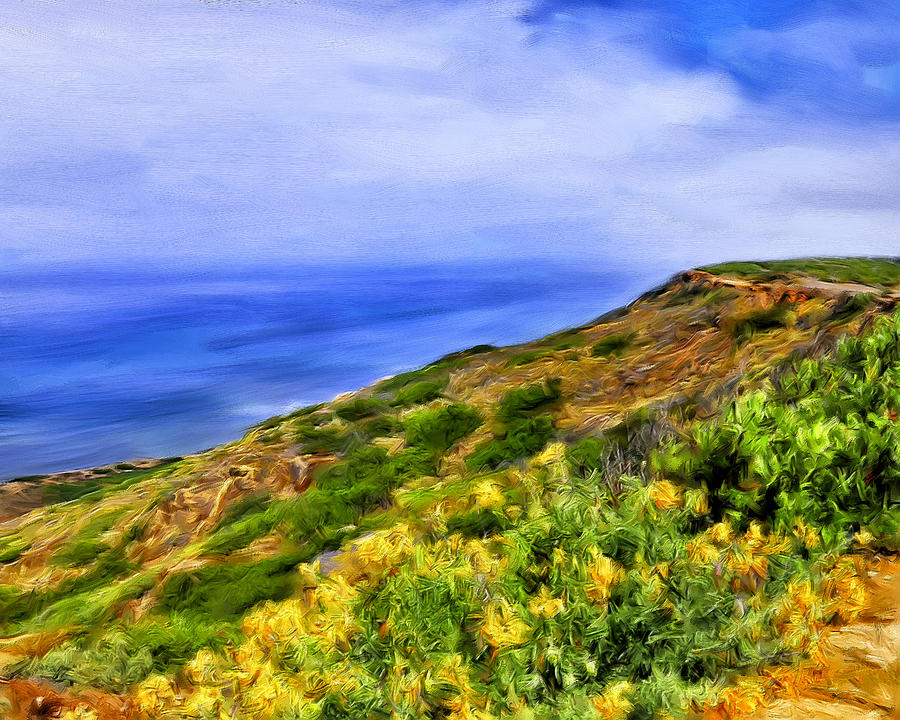 Wildflowers Painting - Wildflowers At Point Loma by Dominic Piperata