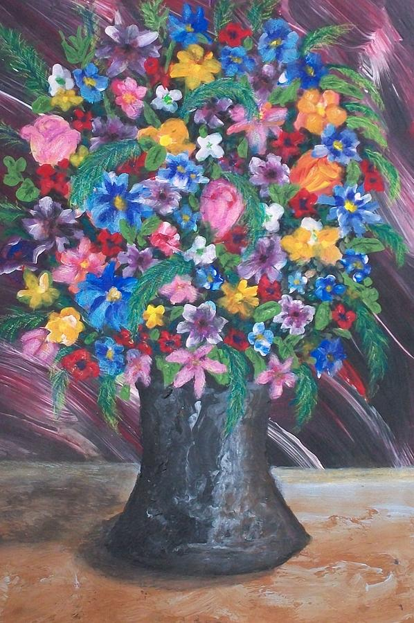 Flowers Painting - Wildflowers by Jeanette Stewart