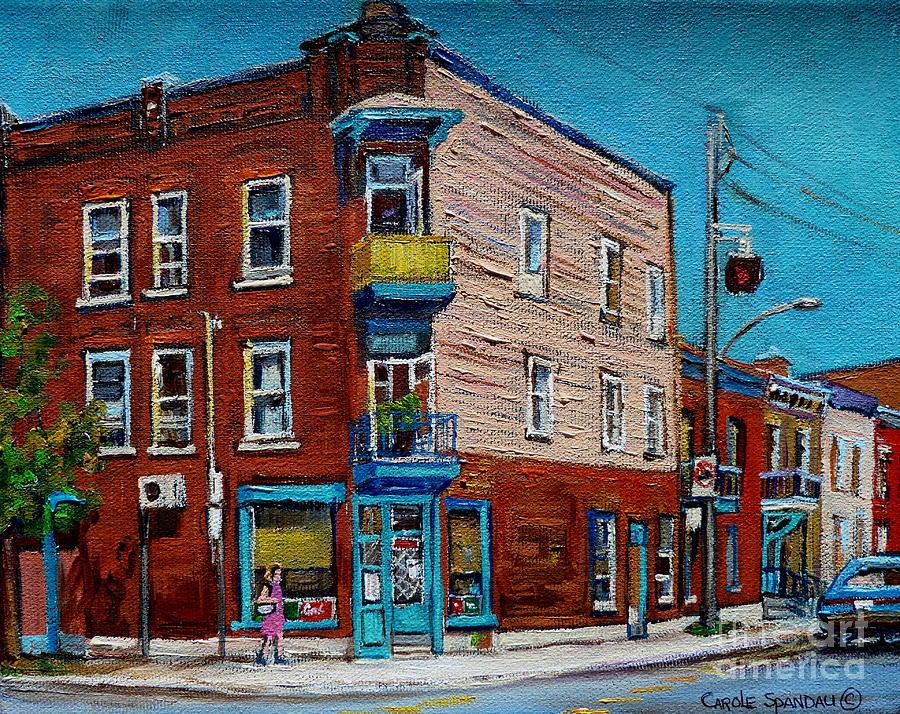 Restaurants Painting - Wilenskys Light Lunch Plateau Montreal by Carole Spandau