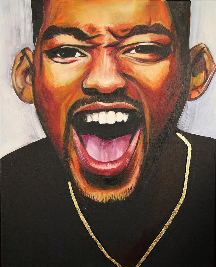 Will Smith Painting - Will Smith by Kate Fortin