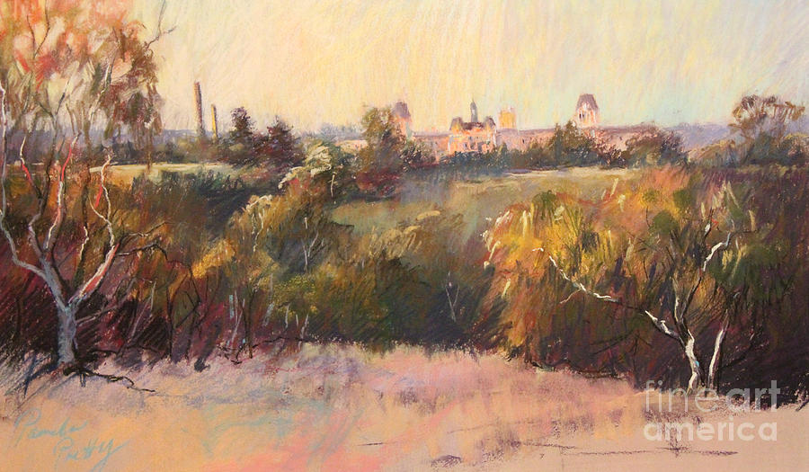 Pastel Landscape Painting - Willesmere From Charitas by Pamela Pretty