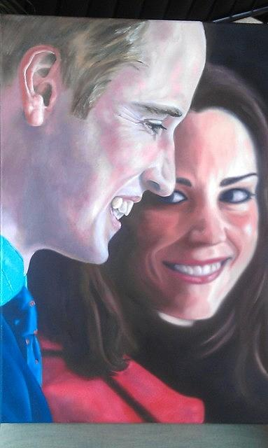 Portraits Painting - William - Kate by Marina Van Rensburg