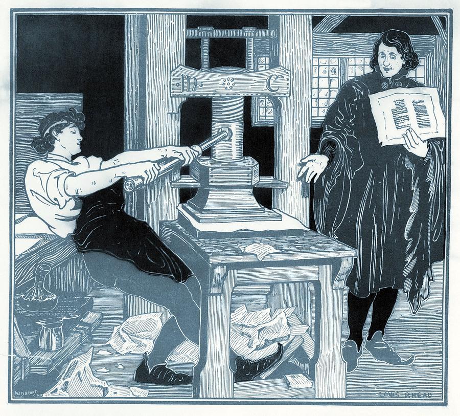 History Photograph - William Caxton 1422-1491, English by Everett
