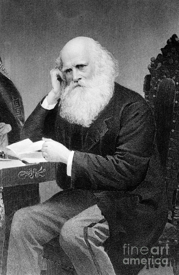 History Photograph - William Cullen Bryant, American Poet by Photo Researchers