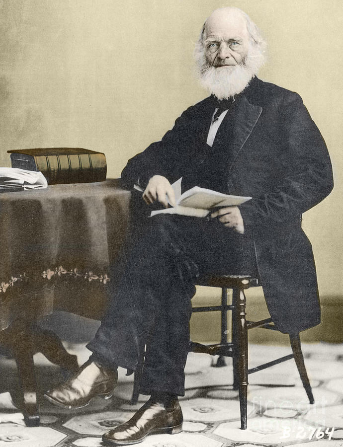 History Photograph - William Cullen Bryant, American Poet by Science Source