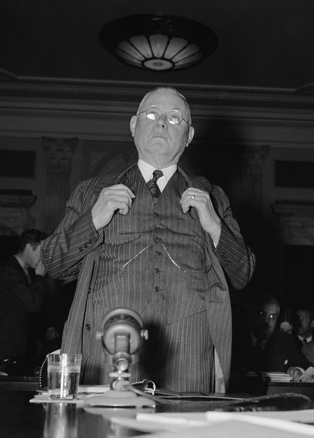 History Photograph - William Green 1873-1952, President by Everett