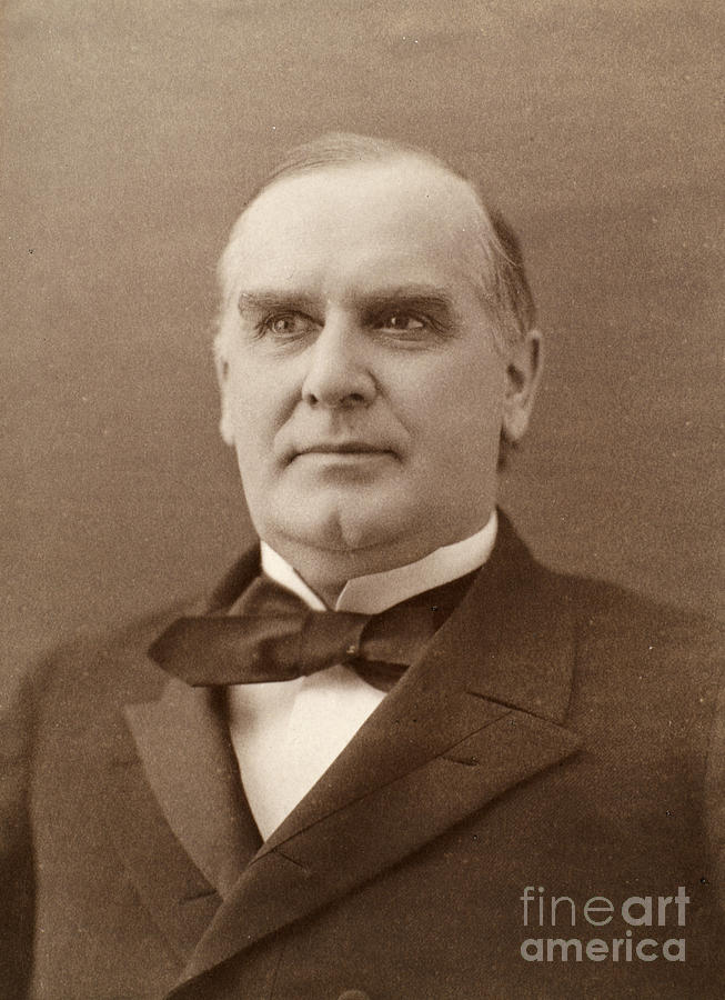 1896 Photograph - William Mckinley (1843-1901). 25th President Of The United States. Photographed In 1896 by Granger