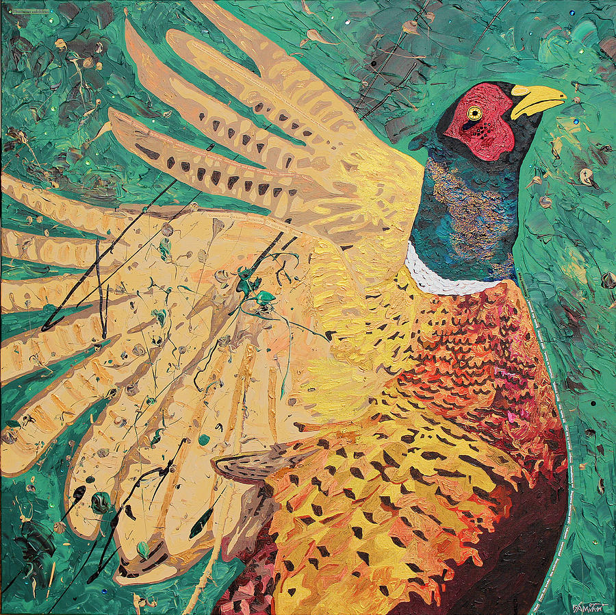 Mixed Media Mixed Media - William The Pheasant by Claire  Milner