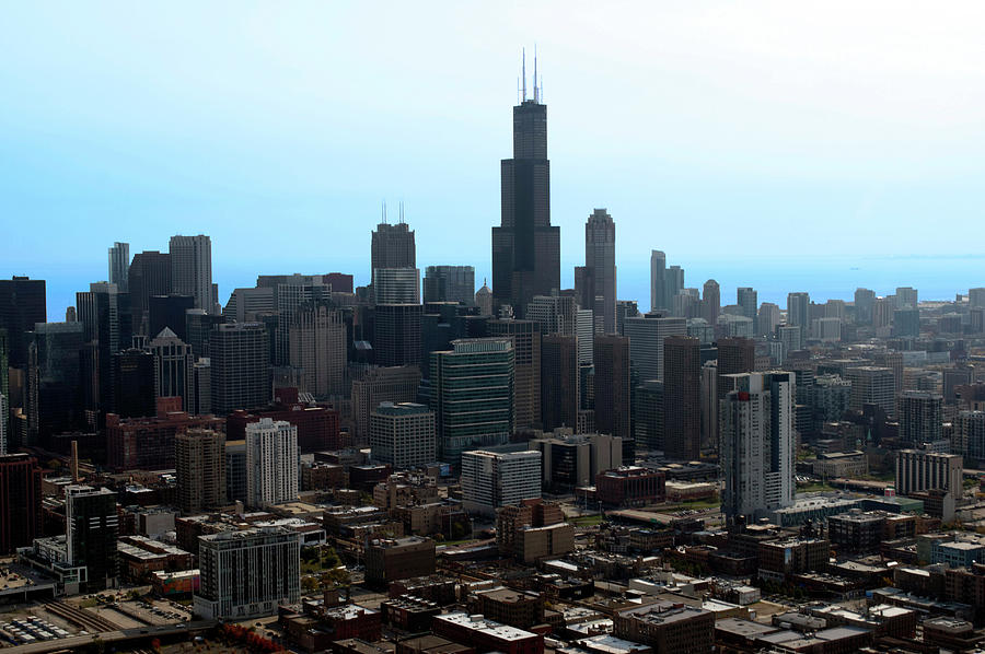 Cities Photograph - Willis Sears Tower 04 Chicago by Thomas Woolworth