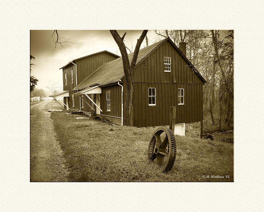 2d Photograph - Williston Mill - Sepia by Brian Wallace