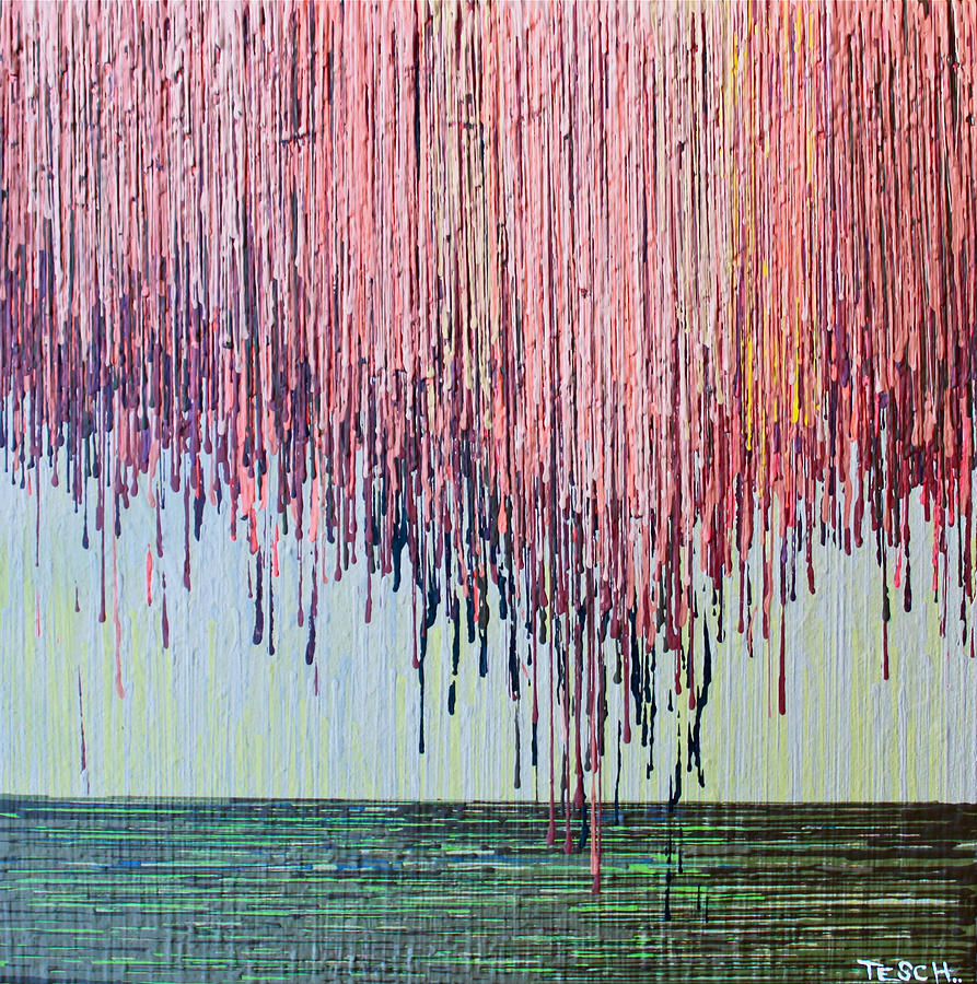 Abstract Painting - Willow Tree by Kate Tesch