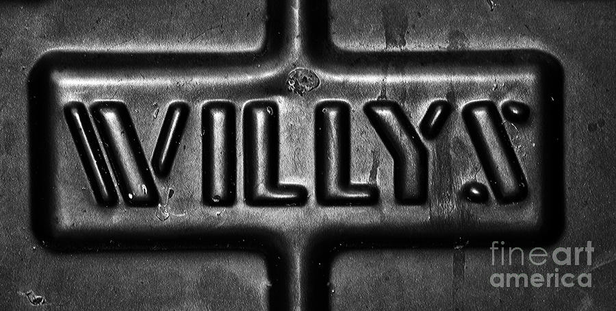 Willys Emblem Photograph by Juls Adams