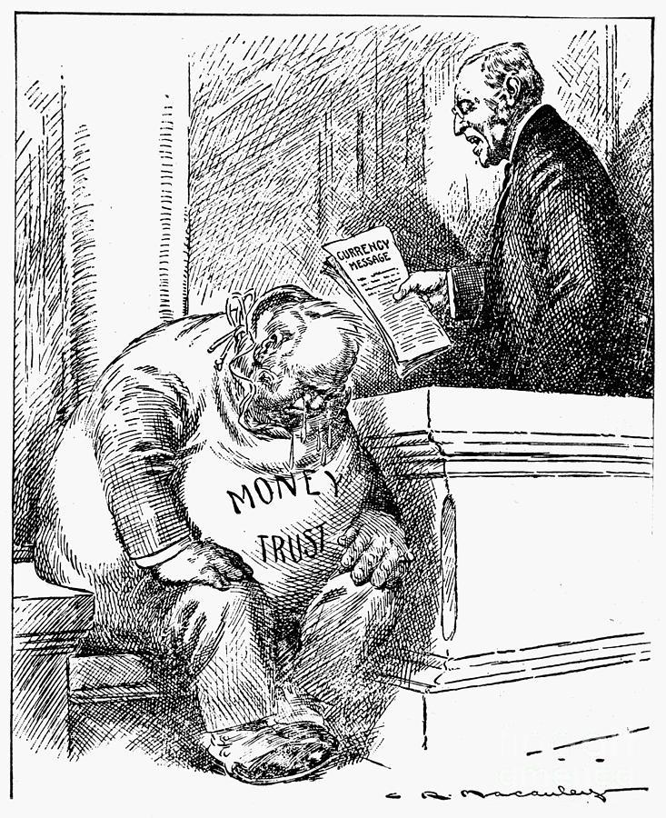 America Photograph - Wilson Cartoon, 1913 by Granger