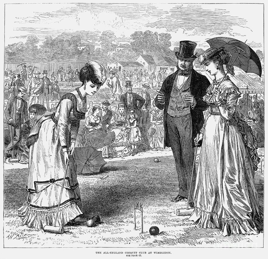 1870 Photograph - Wimbledon: Croquet, 1870 by Granger