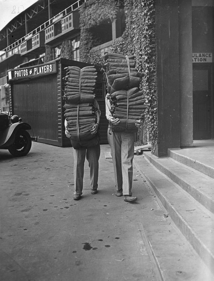 Mature Adult Photograph - Wimbledon Cushions by H F Davis