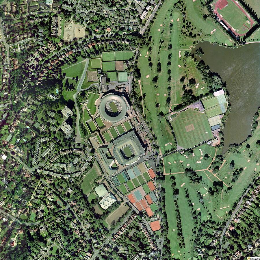 Wimbledon Photograph - Wimbledon Tennis Complex, Uk by Getmapping Plc