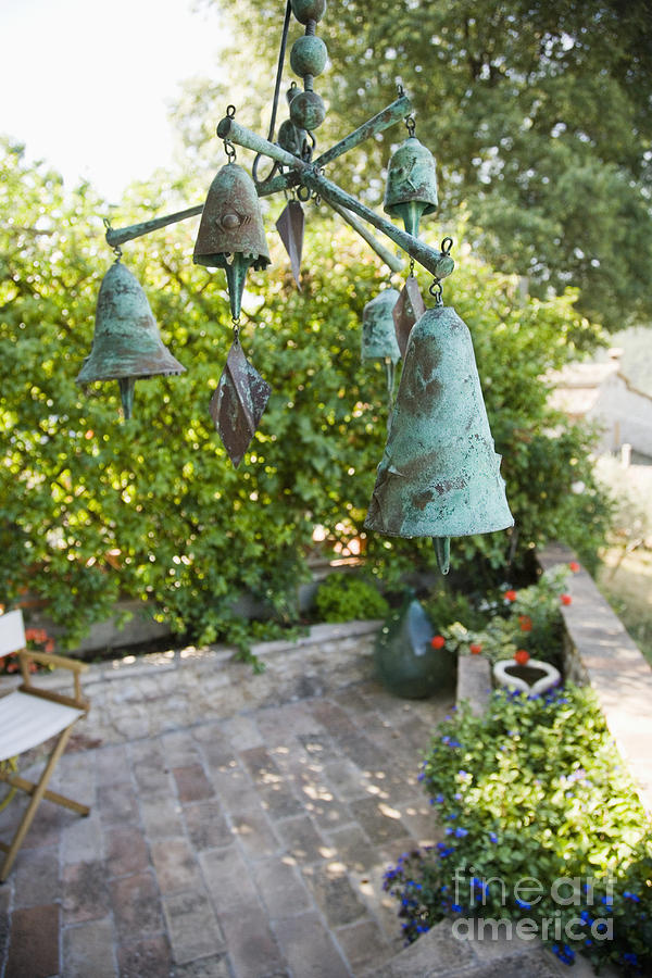 Bell Photograph   Wind Chimes In Garden By Andersen Ross