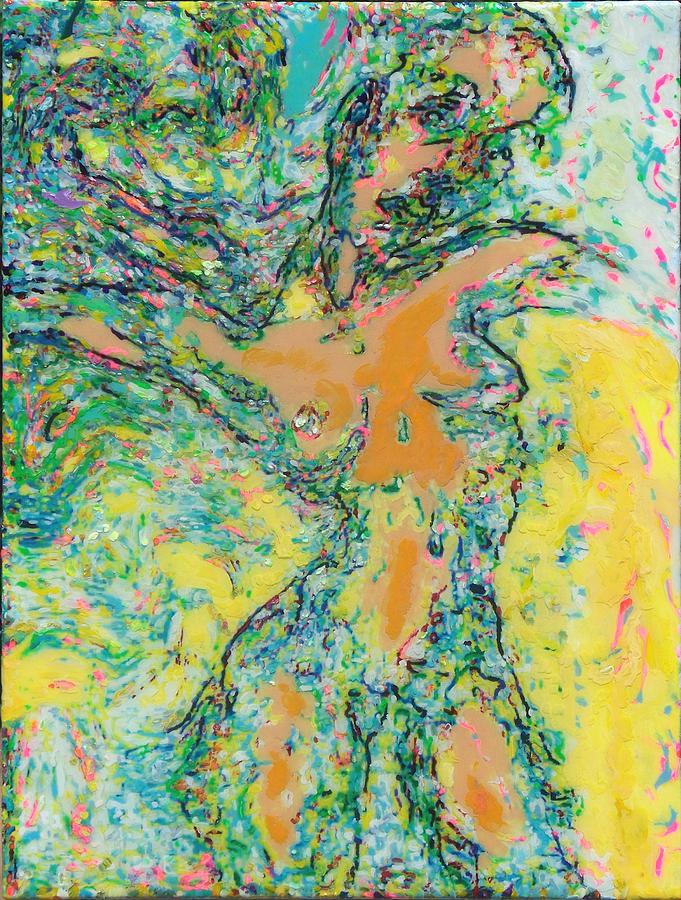 Contemporary Painting - Wind Dancer by Allen Vandever