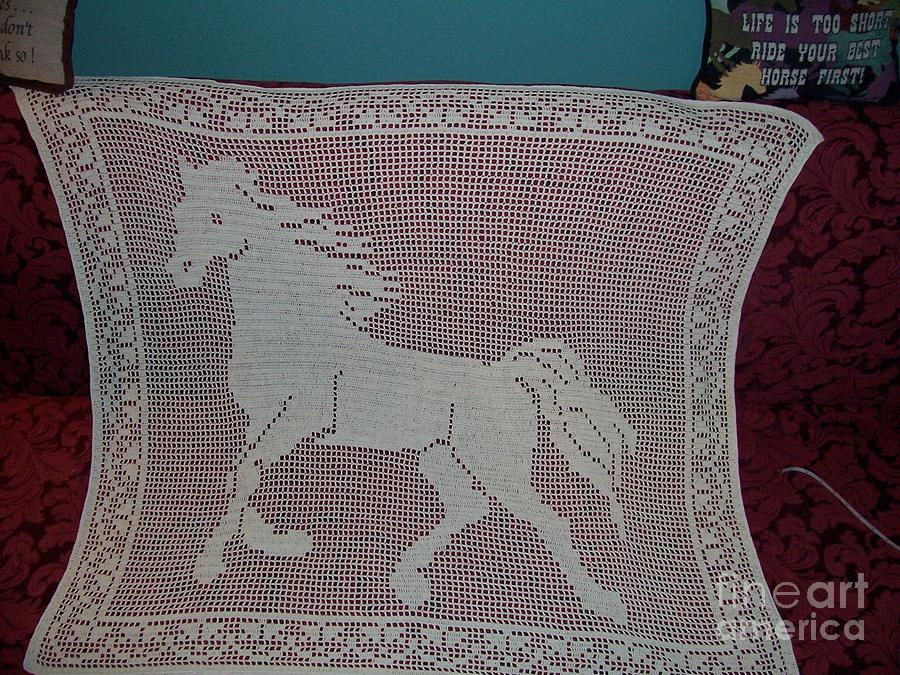 Horse Tapestry - Textile - Wind Runner by Becky Furr