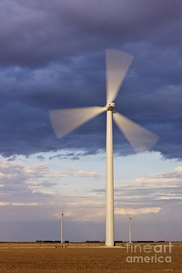 Alternative Energy Photograph - Wind Turbine Spinning At Dusk by Jeremy Woodhouse
