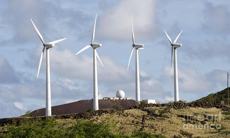 Wind Generator Photograph - Wind Turbines At The Ascension by Stocktrek Images