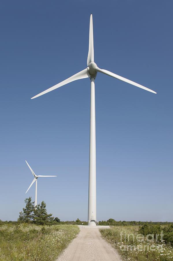 Blades Photograph - Wind Turbines by Jaak Nilson