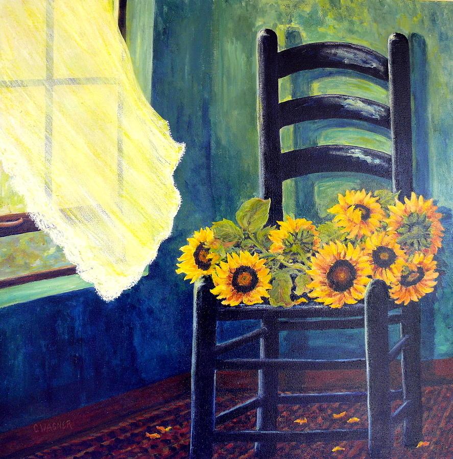 Window Sill Painting - Windfall by Carol Ann Wagner