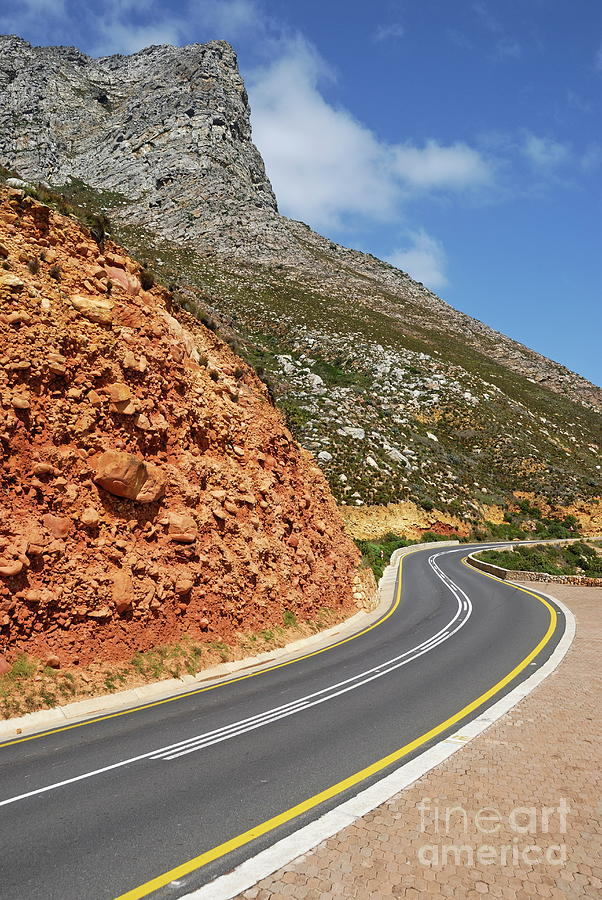 Journey Photograph - Winding Costal Road Between Gordons Bay And Bettys Bay by Sami Sarkis