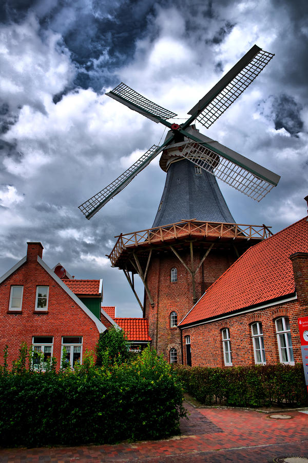 Windmill Photograph - Windmill in Northern Germany by Edward Myers