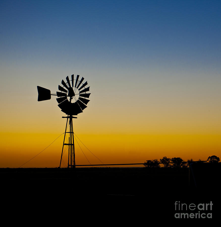 Windmill In Silhouette Photograph by Jacobs Stock Photography
