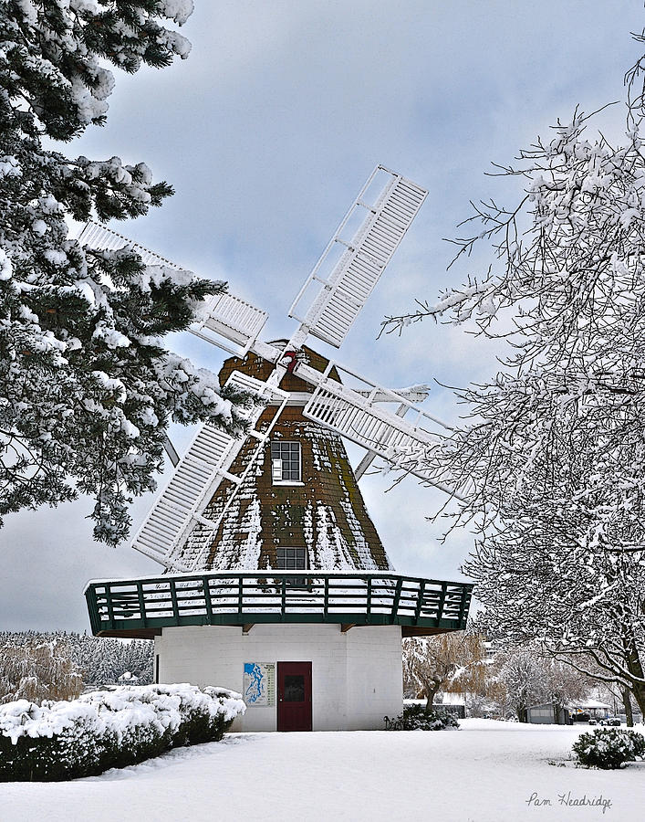 Windmill Photograph - Windmill In The Winter by Pam Headridge