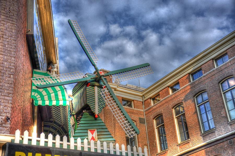 Amsterdam Digital Art - Windmill Of Amsterdam by Barry R Jones Jr