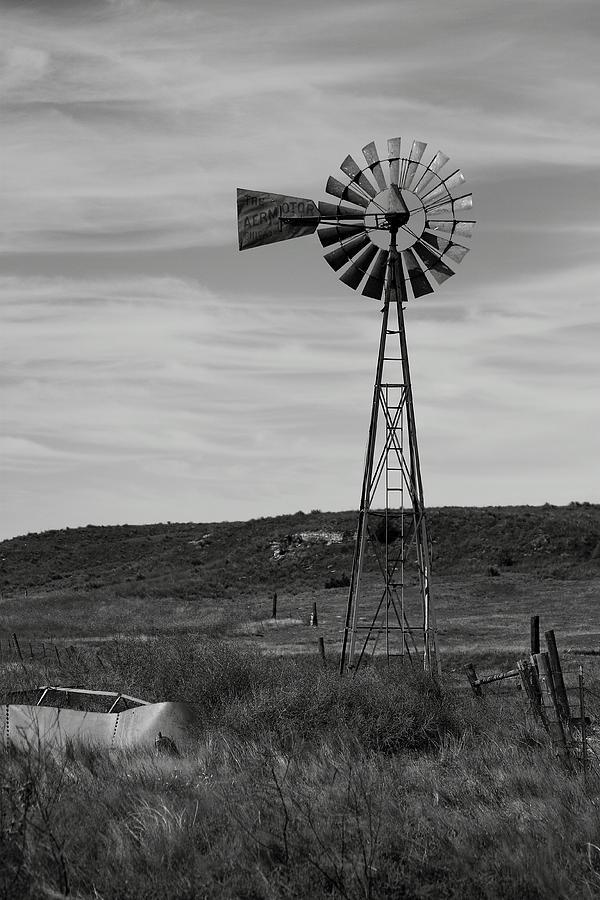 Windmill Photograph - Windmill On The Plains by Jason Drake