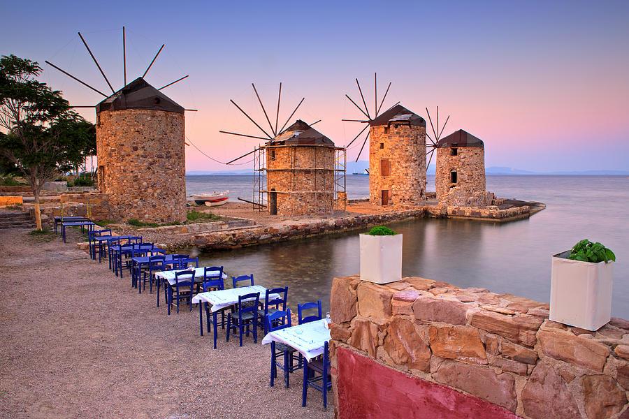 Agios Isidoros Photograph - Windmills 2  by Emmanuel Panagiotakis