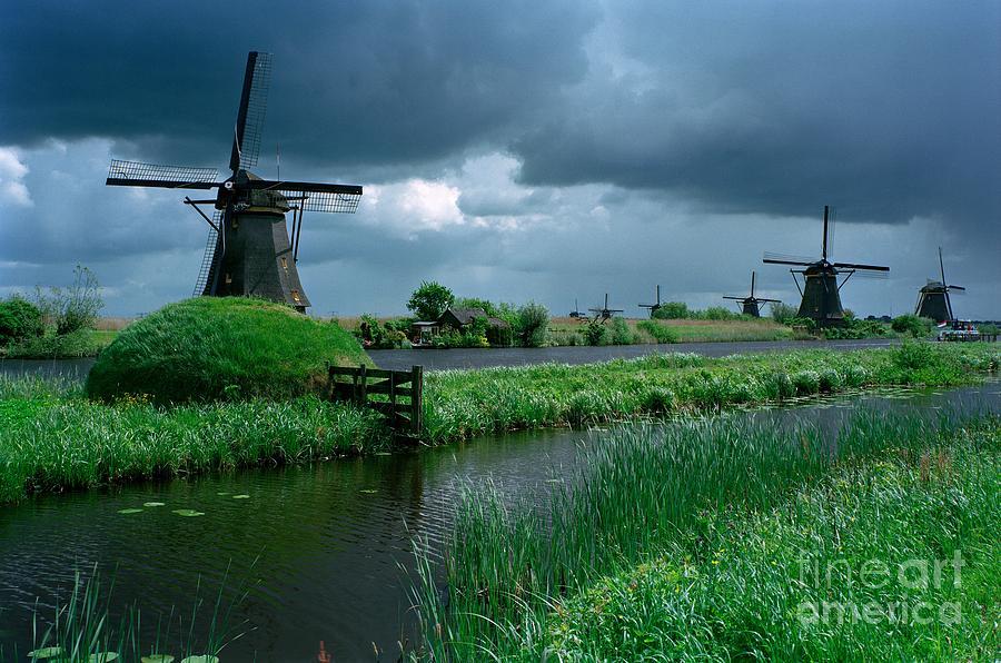 Windmill Photograph - Windmills of Kinderdijk  by Serge Fourletoff
