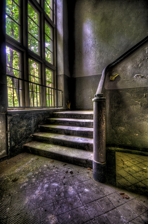 Abandoned Photograph - Window And Stairs by Nathan Wright
