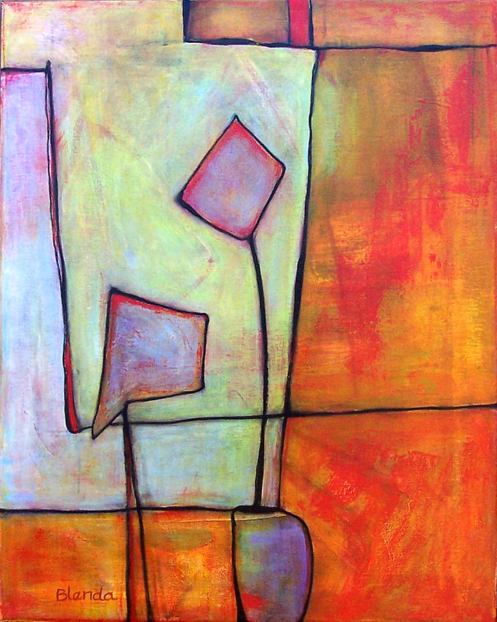 Abstract Painting - Window Dressing by Blenda Studio