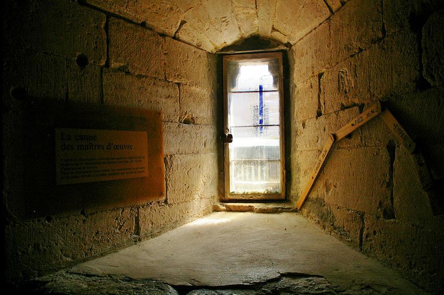 Minimalist Photograph - Window In The Abbey Of Senanque by Christine Burdine