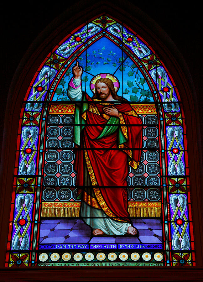 Stained Glass Photograph - Window In Trinity Church Iv by Steven Ainsworth