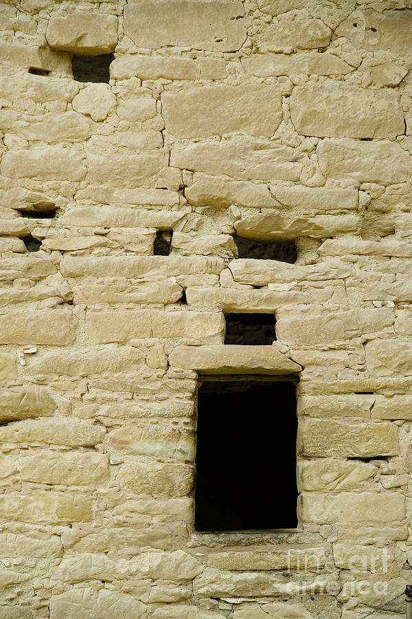 Abandoned Photograph - Window Opening In Old Brick Adobe Wall by Ned Frisk
