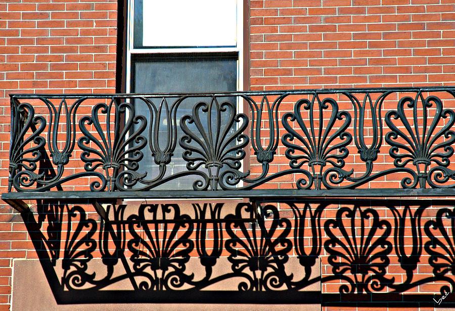 Brick Photograph - Window Scrolls by Bruce Carpenter