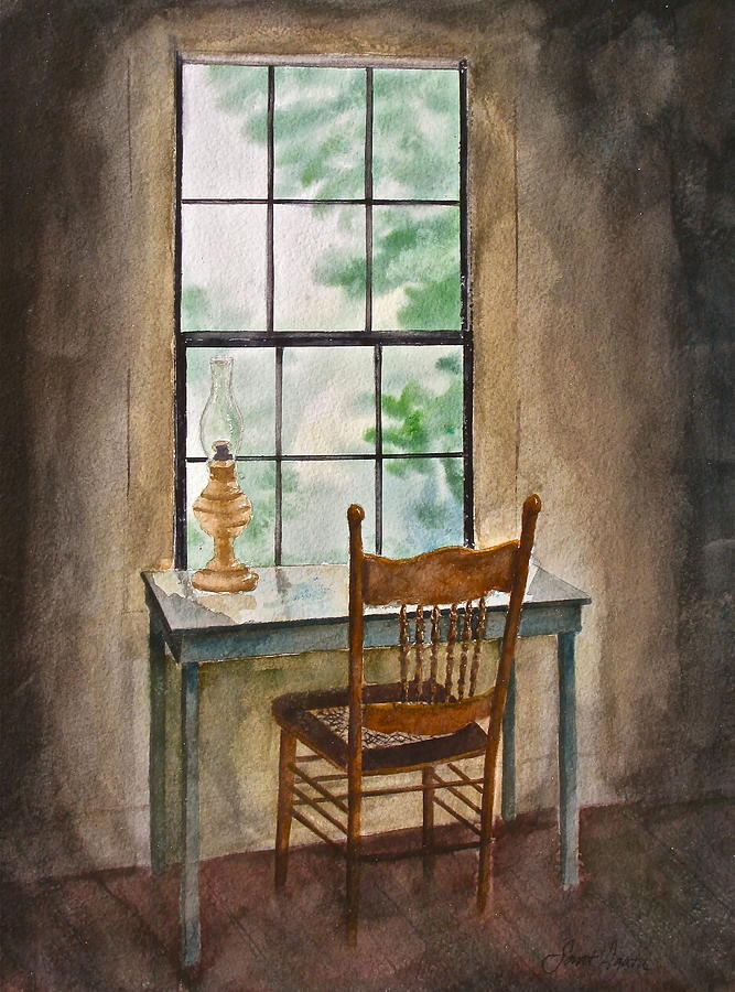Window Seat Painting By Frank Santagata