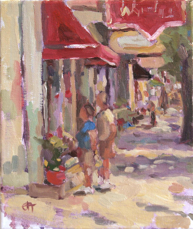 Landscape Painting Painting - Window Shopping by Jenny Anderson